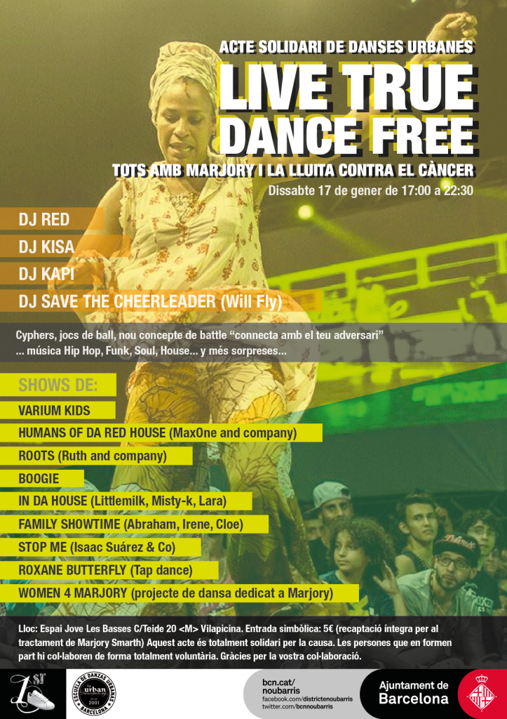 Cartel Live true, dance free MARJORY SMARTH_catalan
