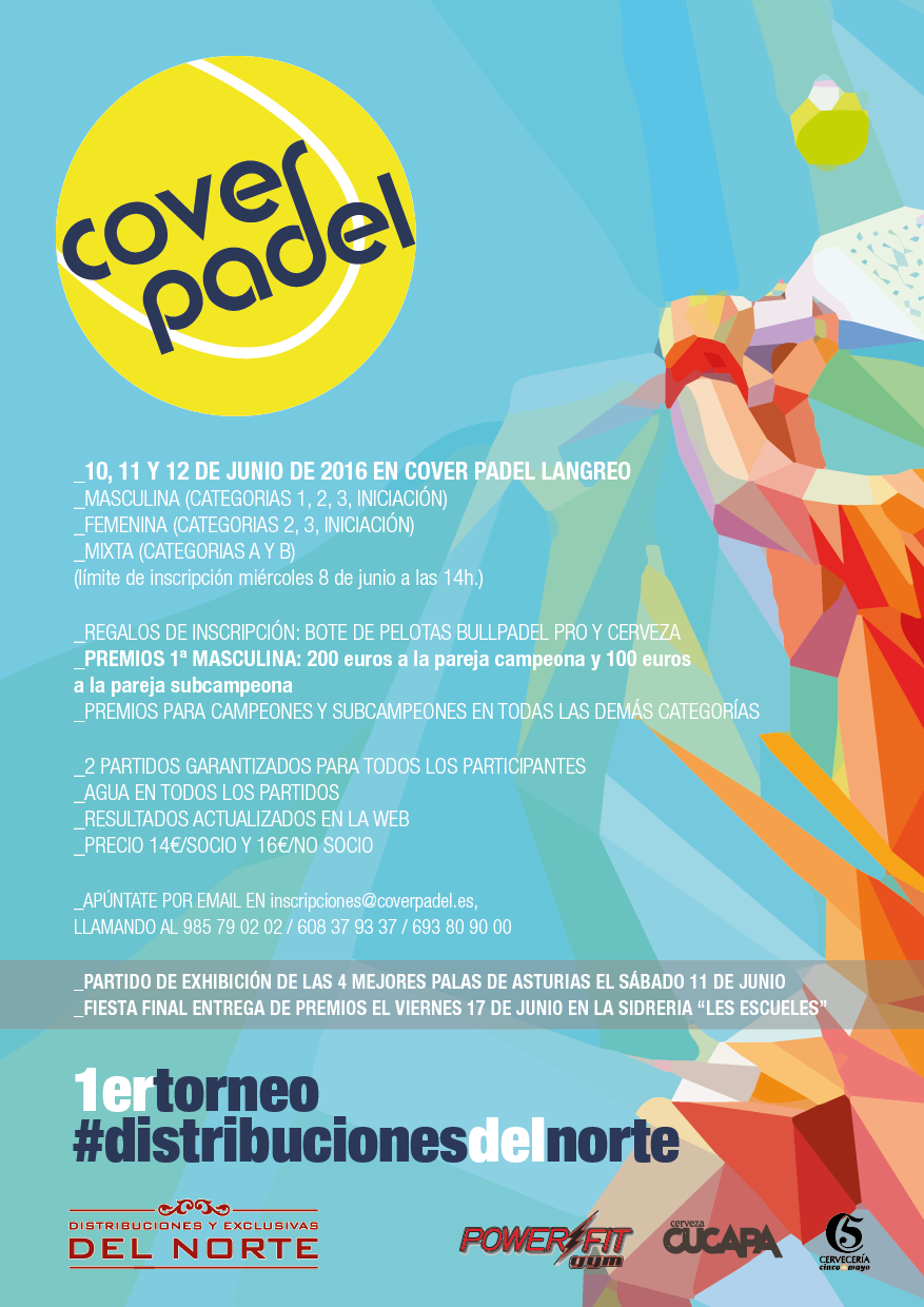 Flyer 1 TORNEO Distribuciones del norte